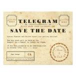Vintage Telegram Save the Date Custom Announcements