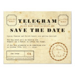 Vintage Telegram Save the Date Custom Announcements