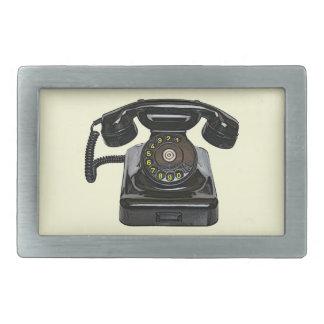Vintage telephone belt buckle