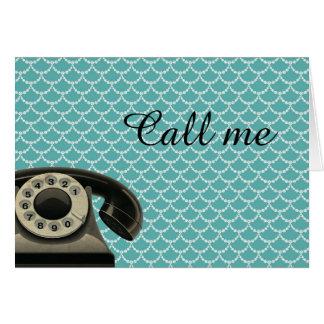 Vintage Telephone Call Me Card