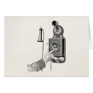 Vintage Telephones Illustration Phone Retro Phones Card