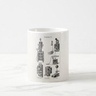 Vintage Telephones Illustration Phone Retro Phones Coffee Mug