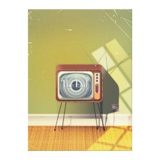 Vintage Television cartoon Canvas Print