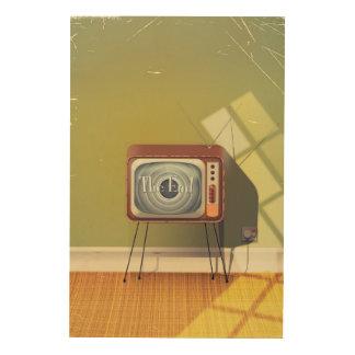 Vintage Television cartoon Wood Prints