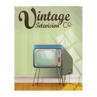 Vintage Television Co. Commercial Acrylic Wall Art