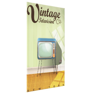 Vintage Television Co. Commercial Canvas Print