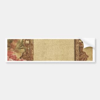 Vintage template,custom made,antique,floral,frame, bumper sticker