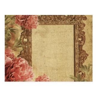 Vintage template,custom made,antique,floral,frame, postcard