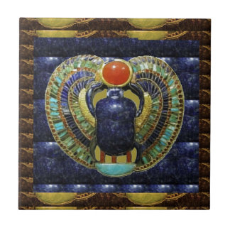 VINTAGE Temple Arts from Egypt PYRAMIDS Small Square Tile