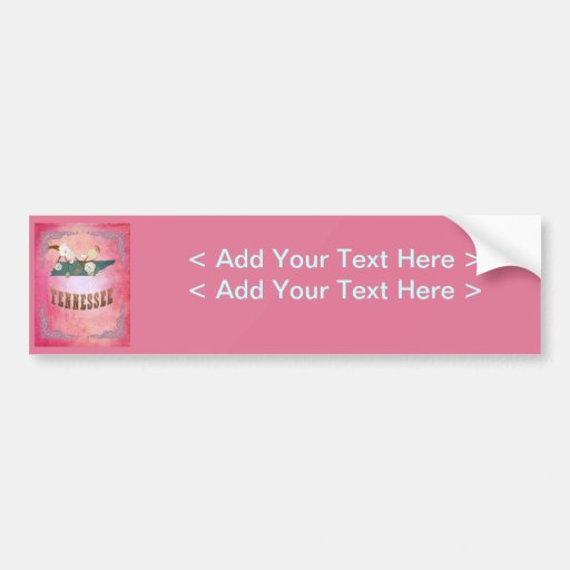 Vintage Tennessee State Map- Candy Pink Bumper Sticker