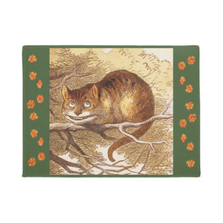 Vintage Tenniel Cheshire Cat Tree Art Doormat