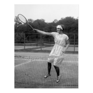 Vintage Tennis Outfit, 1920s Postcard
