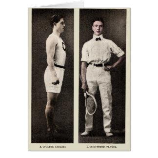 Vintage Tennis Player College Athlete Card
