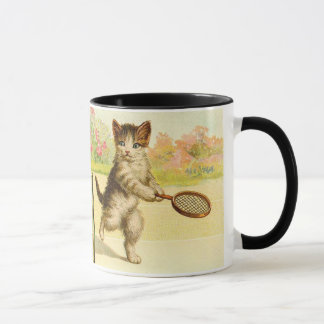 Vintage - Tennis Playing Cats Mug