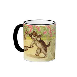 Vintage - Tennis Playing Cats Mug
