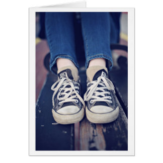Vintage Tennis Shoes faded Greeting Card