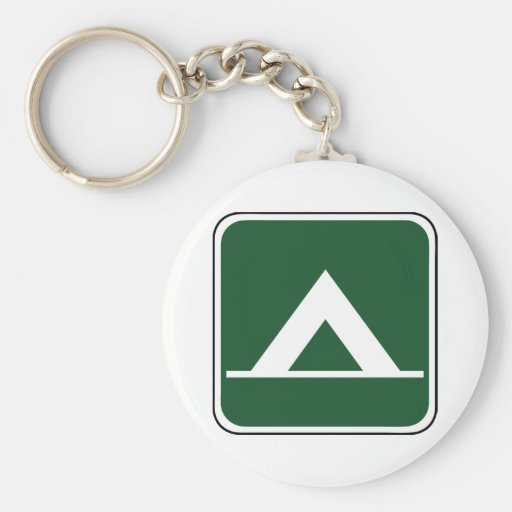 Vintage Tent Camp Sign Key Chains