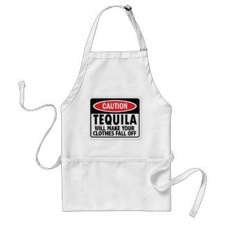 Vintage Tequila caution sign Adult Apron