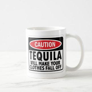Vintage Tequila caution sign Coffee Mug