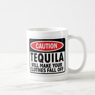 Vintage Tequila caution sign Classic White Coffee Mug