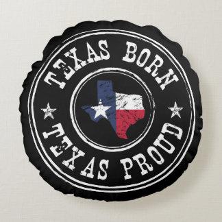 Vintage Texas born - Texas proud Round Cushion