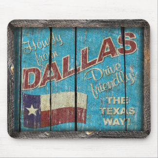 Vintage Texas - DallasMouse Pad Mouse Mat