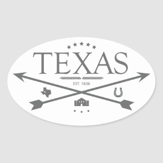 Vintage Texas Est. 1836 Arrows Stickers