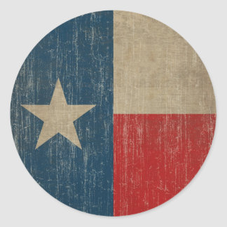 Vintage Texas Flag Round Sticker