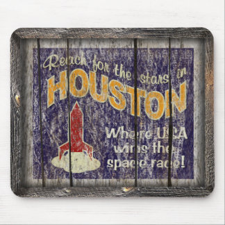 Vintage Texas - Houston Mouse Pad