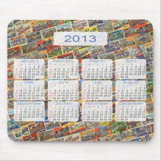 Vintage Texas Postcard Calendar Mouse Pad