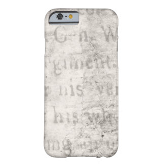 Vintage Text 1700 Background Paper Template Blank Barely There iPhone 6 Case