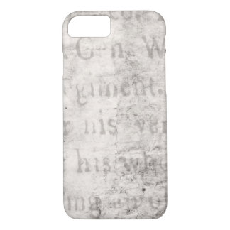 Vintage Text 1700 Background Paper Template Blank iPhone 7 Case