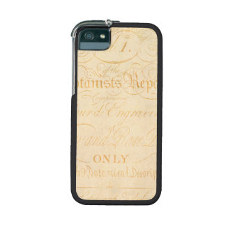 Vintage Text Botanist Parchment Paper Template Cover For iPhone 5/5S