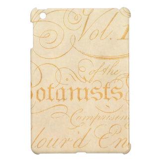 Vintage Text Botanist Parchment Paper Template iPad Mini Covers