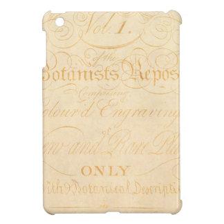 Vintage Text Botanist Parchment Paper Template Cover For The iPad Mini