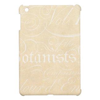 Vintage Text Botanist Parchment Paper Template iPad Mini Case