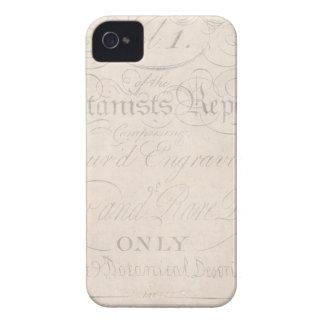 Vintage Text Botanist Parchment Paper Template iPhone 4 Case-Mate Case