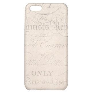 Vintage Text Botanist Parchment Paper Template Case For iPhone 5C
