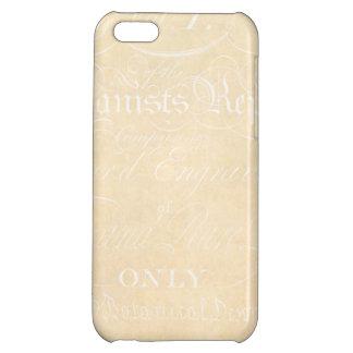 Vintage Text Botanist Parchment Paper Template iPhone 5C Case