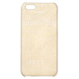 Vintage Text Botanist Parchment Paper Template Cover For iPhone 5C
