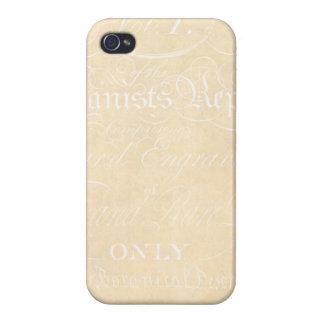 Vintage Text Botanist Parchment Paper Template iPhone 4/4S Cases