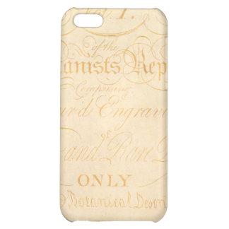 Vintage Text Botanist Parchment Paper Template iPhone 5C Covers