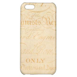 Vintage Text Botanist Parchment Paper Template iPhone 5C Cover
