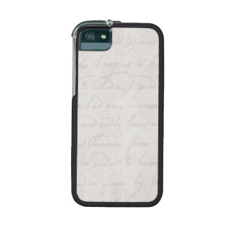 Vintage Text Colonial Background Paper Template iPhone 5/5S Cases