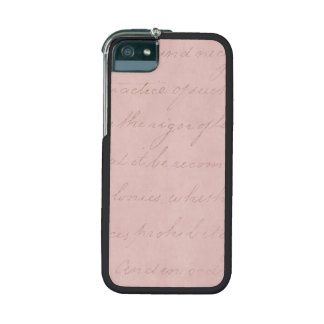 Vintage Text Colonial Rose Parchment Paper iPhone 5 Covers