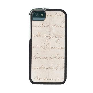 Vintage Text Colonial Script Parchment Paper Case For iPhone 5