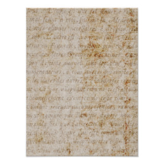 Vintage Text French Background Paper Template Photo Print