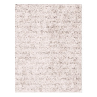 Vintage Text French Background Paper Template Postcard