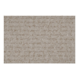 Vintage Text French Background Paper Template Poster