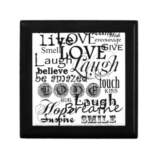 Vintage Text Life Advice Apparel and Gifts Small Square Gift Box
